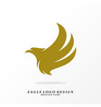 eagle logo design simple eagle logo template vector image vector image