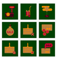 flat assembly icons of set gifts and discounts vector image vector image