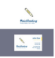 Flat marker logo and visiting card template