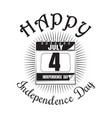 fourth of july calendar with date - 4th of july vector image vector image