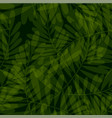 green tropical seamless pattern vector image vector image