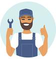 handyman character thumbs up vector image vector image