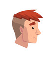 head of young man with trendy haircut profile of vector image vector image