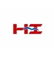 Hi Logo Graphic Branding Letter Element vector image vector image