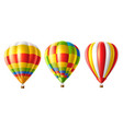 hot air balloon colorful set isolated vector image