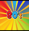 i love 80s eighties sign disco rap rock retro vector image vector image