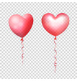 inflatable air flying balloons in form of hearts vector image vector image
