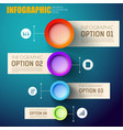 infographic abstract template for business vector image vector image