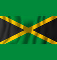 jamaica realistic waving flag national country vector image vector image