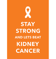 kidney cancer poster vector image vector image