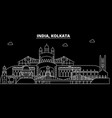 kolkata silhouette skyline india - kolkata vector image vector image