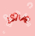 love drawn letters with trendy coral colors vector image vector image