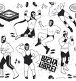 Luchadores Heroes vector image vector image