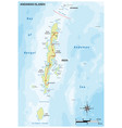 map indian andaman islands vector image vector image
