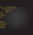 new year black banner background with gold vector image vector image