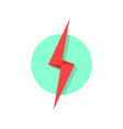 red lightning icon like flash logo vector image