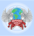 refugee world day artwork vector image