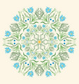 round floral ornament mandala indian style summer vector image vector image