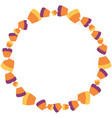 scattered sweet candy corn circle wreath vector image vector image