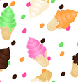 Seamless ice cream pattern vector image