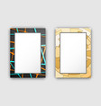 set of two frames dark light vector image vector image
