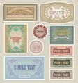 set vintage label vector image vector image