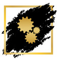 settings sign golden icon at vector image vector image