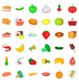 shopping icons set cartoon style vector image