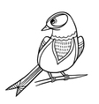 Sketch Bird vector image