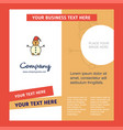 snowman company brochure template busienss vector image vector image