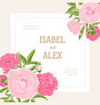 square wedding invitation template decorated vector image vector image
