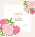 square wedding invitation template decorated vector image