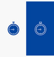 stopwatch clock fast quick time timer watch line vector image vector image