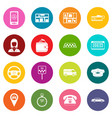 taxi icons many colors set vector image