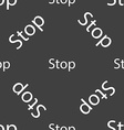 Traffic stop sign icon Caution symbol Seamless vector image
