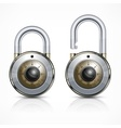 Two round padlock on white vector image vector image
