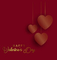 valentines day background with gold hearts vector image vector image
