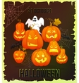 Vertical Halloween grunge banners with pumpkin
