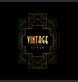 vintage style gold and black vector image vector image