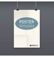 White poster template on a rope vector image