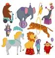 Circus animals vector image
