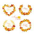 Autumn Wreath - Banners and Tags vector image
