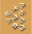 3d isometric symbols vector image vector image