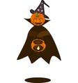 A Happy Halloween Pumpkin with Pumpkin Basket vector image vector image