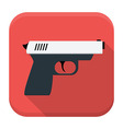 Action movie app icon with long shadow vector image