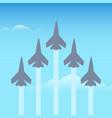 aerobatics planes in sky vector image vector image