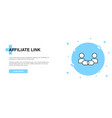 affiliate link icon banner outline template vector image vector image