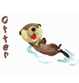 animal Otter vector image vector image