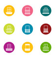aperture icons set flat style vector image vector image