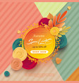 banner for sale of autumn with colorful seasonal vector image